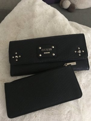 Guess Wallet black leather