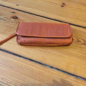 Portemonnaie, Geldbörse, Brieftasche, Orange, Strukturmuster