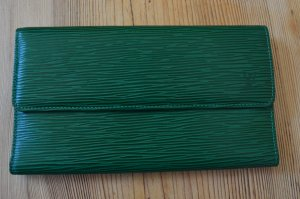 Louis Vuitton Wallet forest green leather