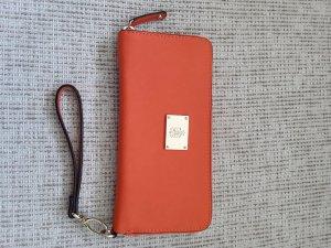 Tchibo / TCM Wallet orange-gold-colored imitation leather