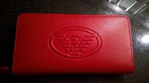 Emporio Armani Portefeuille rouge-doré tissu mixte