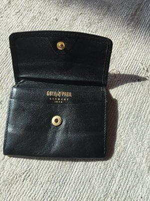 Goldpfeil Portefeuille noir cuir