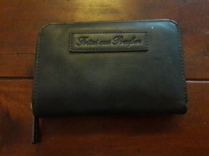 Portemonnaie grau / schwarz