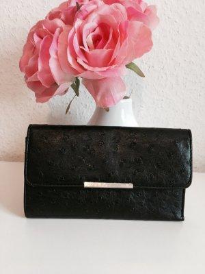 Portemonnaie in schwarz aus Kunstleder