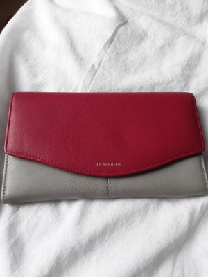 Wallet violet-silver-colored leather