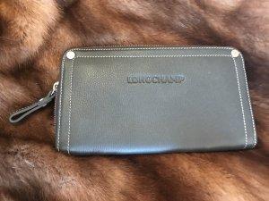 Portemonnaie Longchamp grau Leder tolles Innenleben unbenutzt NP 195€