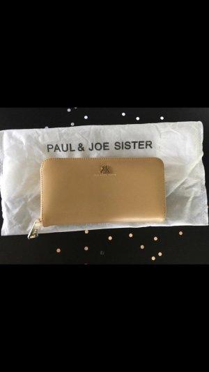 Paul & Joe Sister Portemonnee licht beige Leer