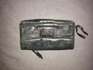 Portemonnaie schwarz Leder