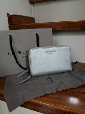 Liebeskind Berlin Wallet silver-colored-light grey leather