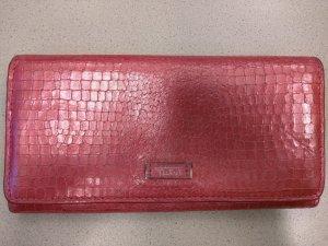Tumi Portefeuille rouge brique-vieux rose cuir