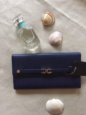 Aigner Wallet dark blue-silver-colored