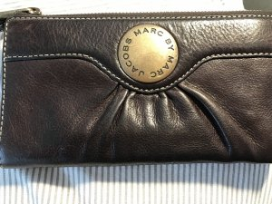 Marc by Marc Jacobs Wallet dark brown-bronze-colored leather