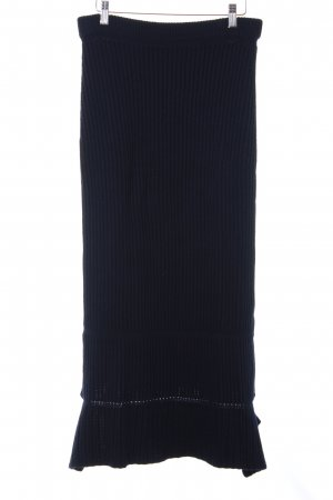 PORTS 1961 Knitted Skirt dark blue casual look