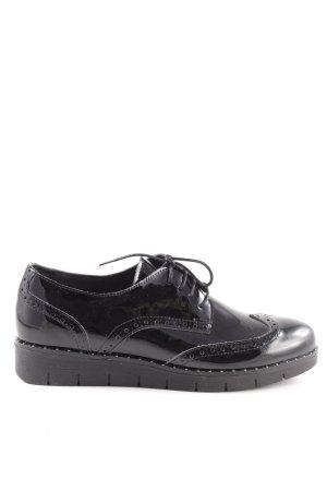 Post Xchange Budapest schoenen zwart zakelijke stijl