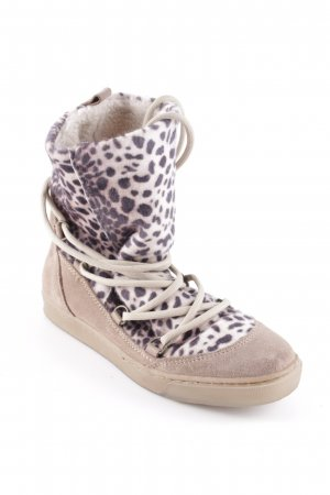 Post Xchange Schnür-Stiefeletten Leomuster Animal-Look