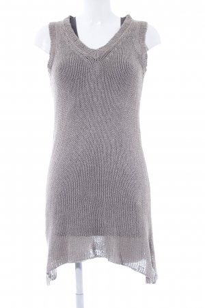 Pounou Strickkleid beige-grau Casual-Look