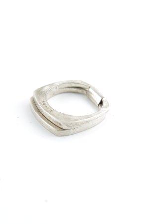 POUR TOI Silberring silberfarben klassischer Stil