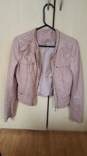 Powder rose Leder Jacke, Gr.S
