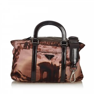 Prada 2 Way Printed Nylon Handbag