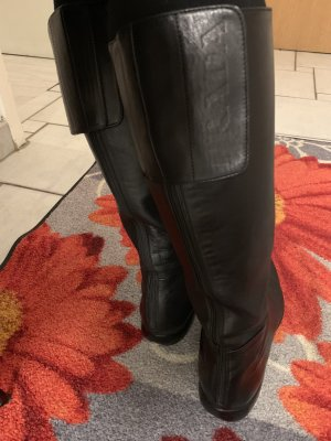Prada Wide Calf Boots black