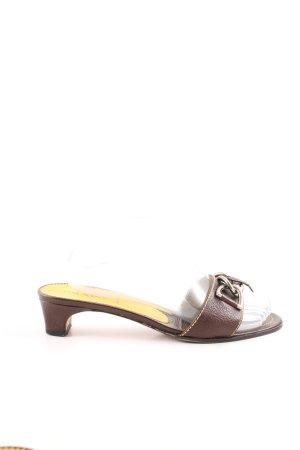 Prada Heel Pantolettes bronze-colored casual look