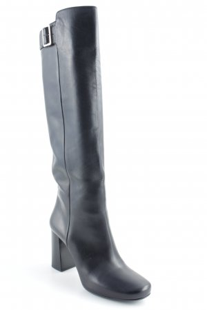 "Prada Laarzen met hak ""Calf Leather Boot Black 41  "" zwart"