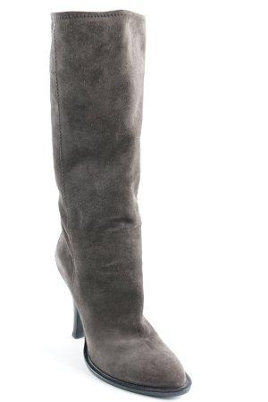 Prada Absatz Stiefel graubraun Elegant