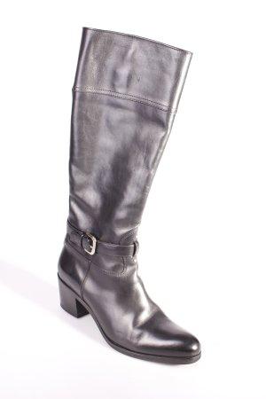 Prada Absatz Stiefel schwarz Eleganz-Look