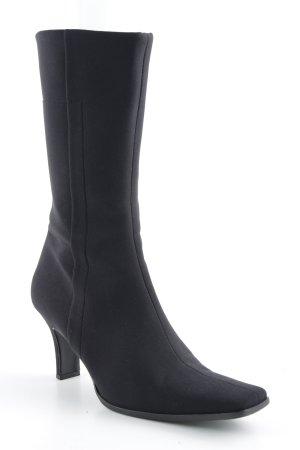 Prada Absatz Stiefel schwarz Retro-Look