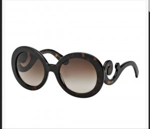 Prada Round Sunglasses black-dark brown