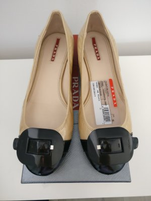 Prada Patent Leather Ballerinas black-cream