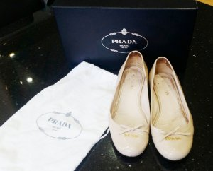 Prada Ballerinas 37 nude rose Lack Leder NP 499 UVP