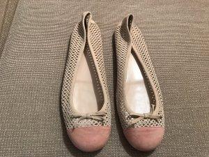 Prada Ballerinas 41 Loafer Flats Leder nude rose