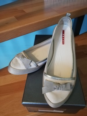 Prada Foldable Ballet Flats white-silver-colored
