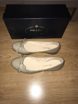 Prada Ballerina beige-licht beige Leer