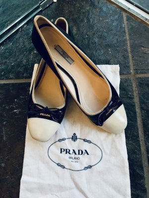Prada Ballerinas black/white 40 1/2