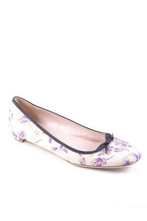 Prada Ballerinas florales Muster Vintage-Look