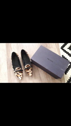 Prada Ballerinas Loafer Slipper Ponyfell Leo Look Fell Animal 38