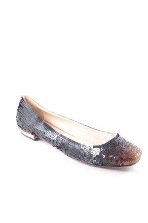 Prada Ballerinas schwarz-bronzefarben Eleganz-Look