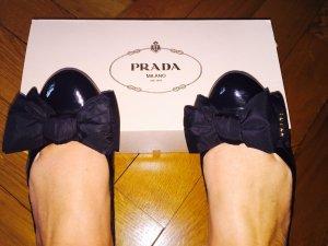 Prada Ballerinas - Schwarzes Lackleder, Größe 39, 1x getragen, Originalkarton!