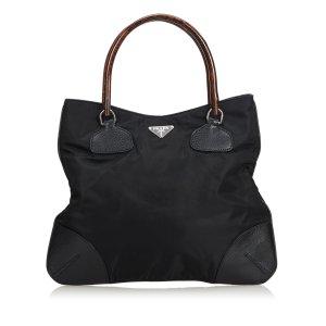 Prada Bamboo Nylon Handbag