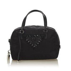 Prada Beaded Logo Nylon Handbag