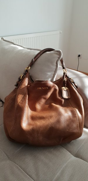 Prada Pouch Bag cognac-coloured