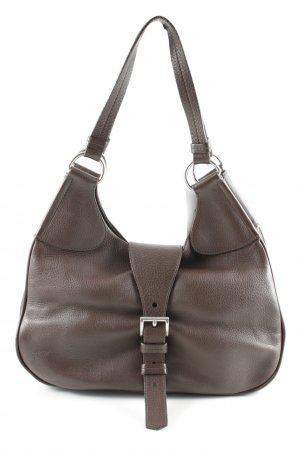 Prada Pouch Bag dark brown business style