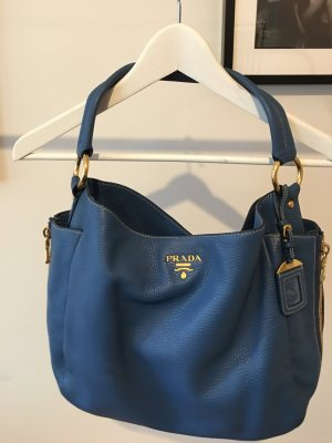 Prada Pouch Bag dark blue leather