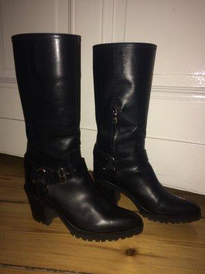 PRADA black beauty booties