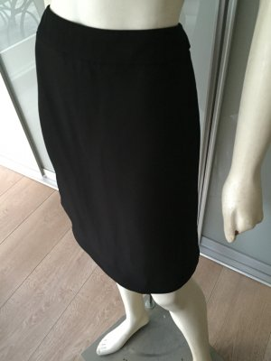 PRADA Bleistift Rock Schwarz Braun Viskose Seide Skirt Brown Black 34 XS TOP