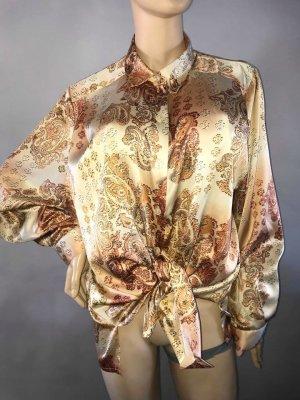 Prada Bluse in gr XL Vintage Styl Farbe Rost