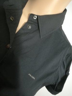 PRADA Bluse schwarz mit Druckknöpfen