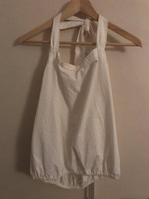 Prada Bluse weiß neckholder
